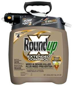 Monsanto 5725070 Round Up Extended Control Pump-N-Go Weed And Grass Killer Plus Weed Preventer, 1.33 Gal