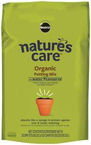 Scotts Miracle-Gro 71283630 Natures Care Organic Potting Mix With Water Conserve 32 Qt