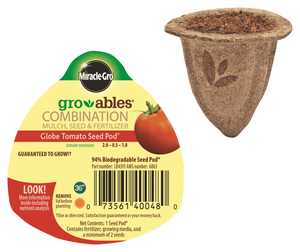Scotts Miracle-Gro MR140048 Gro-Ables Globe Tomato Seed Pod