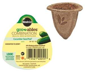 Scotts Miracle-Gro MR140055 Groables Cucumber Seed Pod
