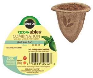 Scotts Miracle-Gro MR140042 Groables Basil Seed Pod