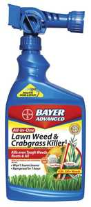 Bayer Advanced BY704080A All-In-One Lawn Weed & Crabgrass Killer Ready To Spray 32 Oz