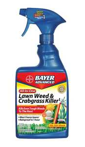 Bayer Advanced 704125A All-In-One Lawn Weed & Crabgrass Killer Rtu 24 oz