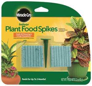 Miracle-Gro MR100157 Indoor Plant Food Spikes 48ct 2.2 Oz