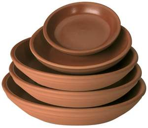 New England Pottery 100043125 6-Inch Terra Cotta Plant Saucer With Glazed Inside