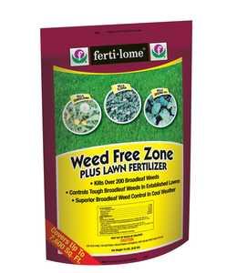 Ferti-Lome FE10930 Weed Free Zone Plus Lawn Fertilizer 18-0-6 19 Lbs