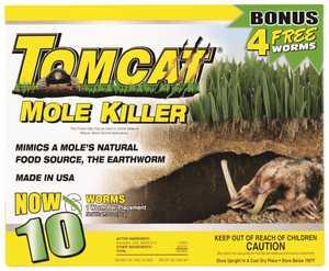 TOMCAT MC34300 Tomcat&reg Mole Killer Worm Formula 6pk