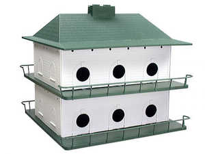 GENERAL ENVIRONMENTAL HTPH12 Heath Plastic 12 Room Bird Purple Martin House System