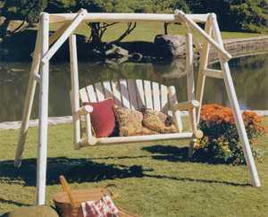 Sutherlands Garden Dept LM26 American Garden Swing With Frame 48 in