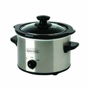 SELECT BRANDS SC-152 1.5-Quart Stainless Steel Slow Cooker