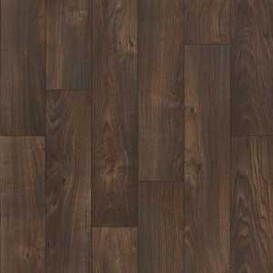 Shaw 0163V-777 Kingsgrove Expresso 6.5 in Wood Plank Visual Residential Resilient Sheet Vinyl Flooring
