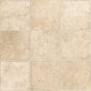 Shaw 0147V-00101 Belmore Broadway Beige 13 in Tile Visual Residential Resilient Sheet Vinyl Flooring