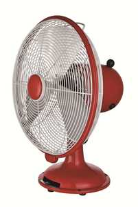 Selecture 46015 12 In Red Retro Vintage Desk Fan 0.3 Amps