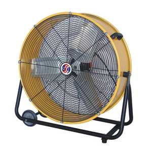 Selecture 18289 24-Inch Yellow Classic Cooler Tilt Fan