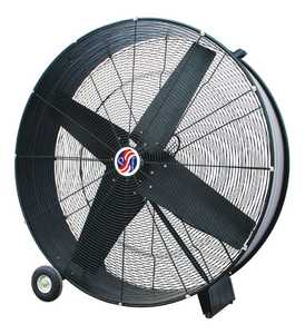Selecture 10258 42 In Black Direct Drive Drum Fan 5.8 Amps 9/10 Hp