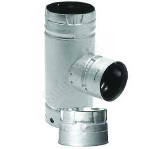 DuraVent 33166 Tee Inc W/Cap 3 in -4 in Multi Fuel