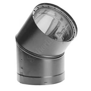 DuraVent 8645 Elbow 45d 6 in Double Wall Black