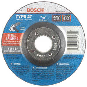 Robert Bosch Tool 2610917844 Wheel Grinding 7/8 in A30t-Bf