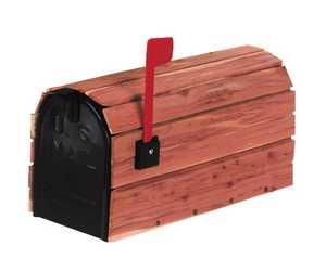 Solar Group CC1R0000 Cedar Wrap Mailbox