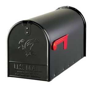 Solar Group E1600B00 Rural Mailbox T2 Elite Black