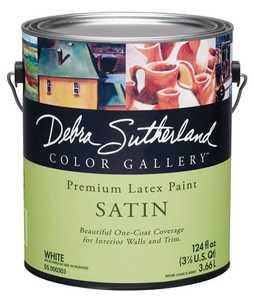Debra Sutherland DS.000307-16 Debra Sutherland Satin Interior Ultra White Gallon