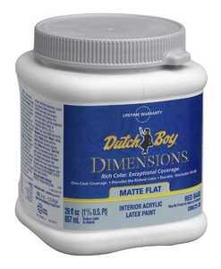 Dutch Boy 1.DB67203-14 Dimensions Interior Acrylic Flat Ds White Qt