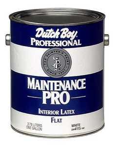 Dutch Boy DM4115142-16 Maintenance Pro Interior Flat White Paint Gal
