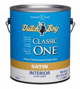 Dutch Boy 1.0048609-16 Classic One Interior Latex Paint Satin Neutral Gallon