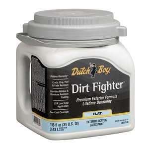 Dutch Boy 1.DB51709 Dirt Fighter Exterior Latex Paint Flat Neutral Base Gallon