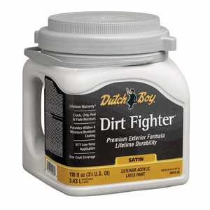 Dutch Boy 1.DB51807 Dirt Fighter Exterior Latex Paint Satin Ultra White Base Gallon