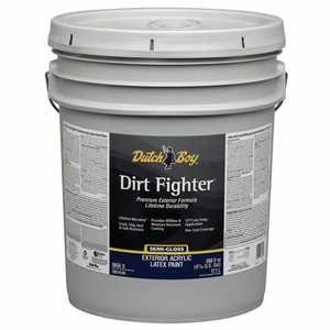 Dutch Boy 1.DB51807-20 Dirt Fighter Exterior Latex Paint Satin Ultra White 5-Gallon
