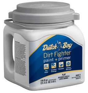 Dutch Boy 1.DB58207 Dirt Fighter Interior Latex Paint Flat Ultra White Base Gallon
