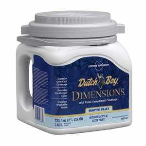 Dutch Boy 1.DB67208 Dimensions Interior Acrylic Paint Matte Red Base Gallon