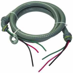 Southwire 55189407 1/2 in Whip Liquid Tight In Nm W/Wire 6 ft