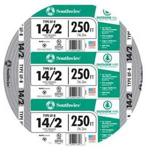 Southwire 13054255 14/2 Uf-B Electrical Cable With Ground 250 ft
