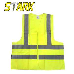 STARK INDUSTRIAL TOOLS 57820 Large 2 Pocket Ansi Yellow Safety Vest