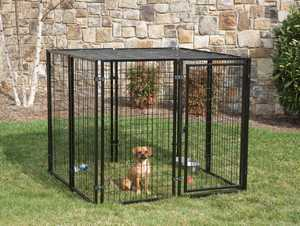 STEPHENS PIPE & STEEL HBK11-11799 5x5x4 ft Cottage View Complete Dog Kennel