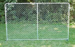 STEPHENS PIPE & STEEL DKS01004 10 ft x 4 ft Silver Series Galvanized Steel Kennel Panel