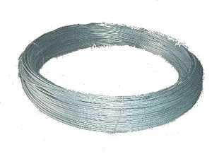STEPHENS PIPE & STEEL GALV WIRE 9 Gauge 100 ft Galvanized Steel Wire for Chain Link Fences
