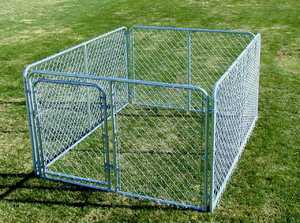 STEPHENS PIPE & STEEL COMPLETE 10 ft X 10 ft X 6 ft Chain Link Kennel