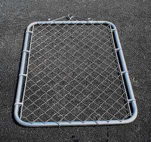 STEPHENS PIPE & STEEL GTB07242 6 ft X 3.5 ft 12.5 Gauge Galvanized Steel Bent Frame Walk-Thru Residential Fence Gate