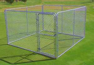 STEPHENS PIPE & STEEL DKS11010 10 ft x 10 ft x 6 ft Silver Series Complete Galvanized Steel Kennel