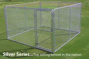 STEPHENS PIPE & STEEL COMPLETE 8 ft X 6 ft X 4 ft Chain Link Kennel