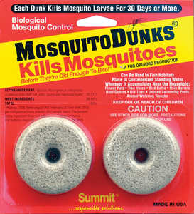 SUMMIT CHEMICAL CO 102-12 Mosquito Dunks 2 Pack
