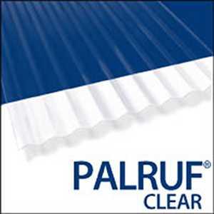 Palram Americas 100423 Palruf PVC Panel 8 ft x26 Clear