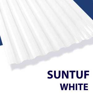 Palram Americas 101892 Suntuf Polycarbonate Panel 12 ft x26 White Opal