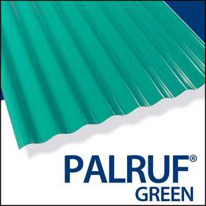 Palram Americas 101479 Palruf PVC Panel 8 ft x26 Green