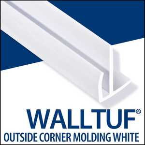 Palram Americas 92587 WallTuf Outside Corner Molding 8 Ft White