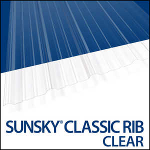Palram Americas 110208 Sunsky Classic Rib Clear 12 Ft