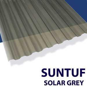Palram Americas 101931 Suntuf Polycarbonate Panel 12 ft x26 Solar Grey